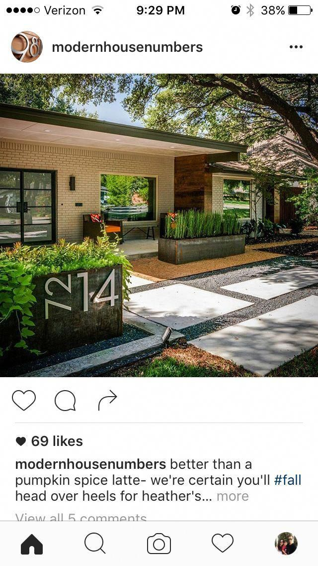 Simple Modern Landscaping Ideas For Front Yard Simple Modern Front Yard Layout Would Change Choice Of Pl Modern Front Yard Modern Landscaping Front Yard Design