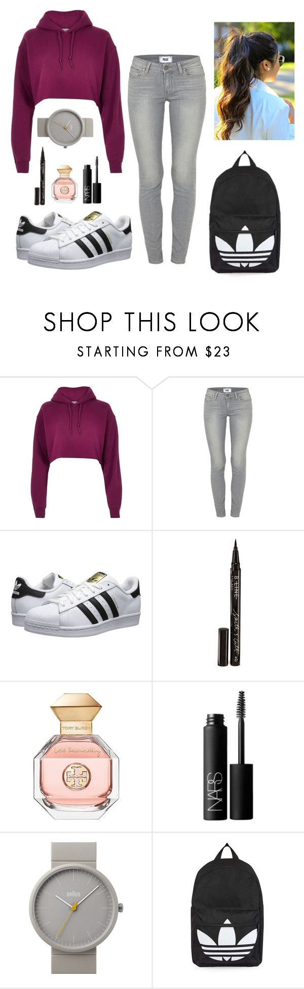 """""""Cool Baby..."""" by stacy971 ❤ liked on Polyvore featuring River Island, Paige Denim, adidas Originals, Smith & Cult, Tory Burch, NARS Cosmetics, Braun and Topshop"""