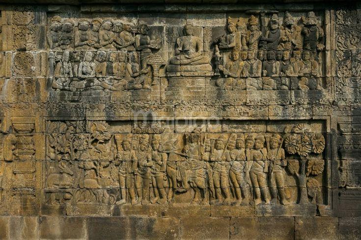 Ini adalah salah satu relief yang terdapat di Candi Borobudur. (Benedictus Oktaviantoro/Maioloo.com)