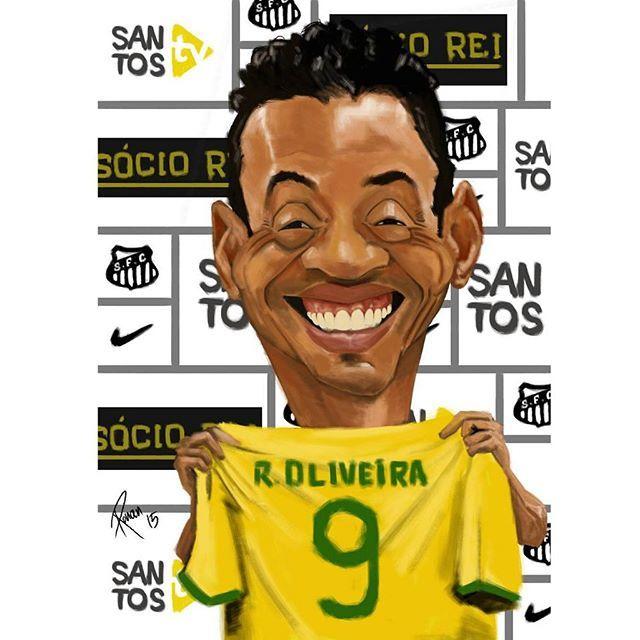 """#mulpix Boa noite nação !  """"Ricardo Oliveira é meu pastor e .....?"""" _ #RicardoOliveira #Caricatura #Pastor Caricatura feito pelo @rborgesr #SantosSempreSantos #SFC #SantosFc #SantosFcOMaior #SantosFutebolClube #AquieSantosPohaa #EuAcreditoNoMeuSantos Siga o nosso instagram de videos de Futebol  @Videosfutebolarte"""