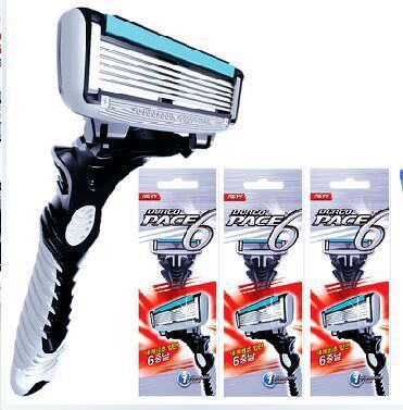 3 Sets/lot Razor Blades For Men  Double Edge Shaver Mens Shaving Personal Face Care Stainless Steel Razors Blades
