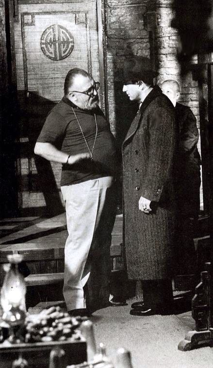 Sergio Leone directing Robert De Niro in Once Upon a Time in America