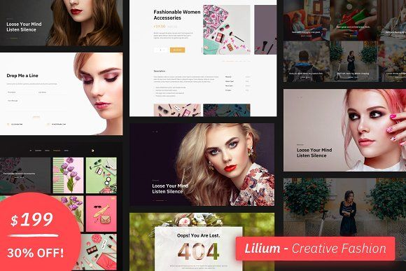 Squarespace Template Lilium Fashion Website Template Design