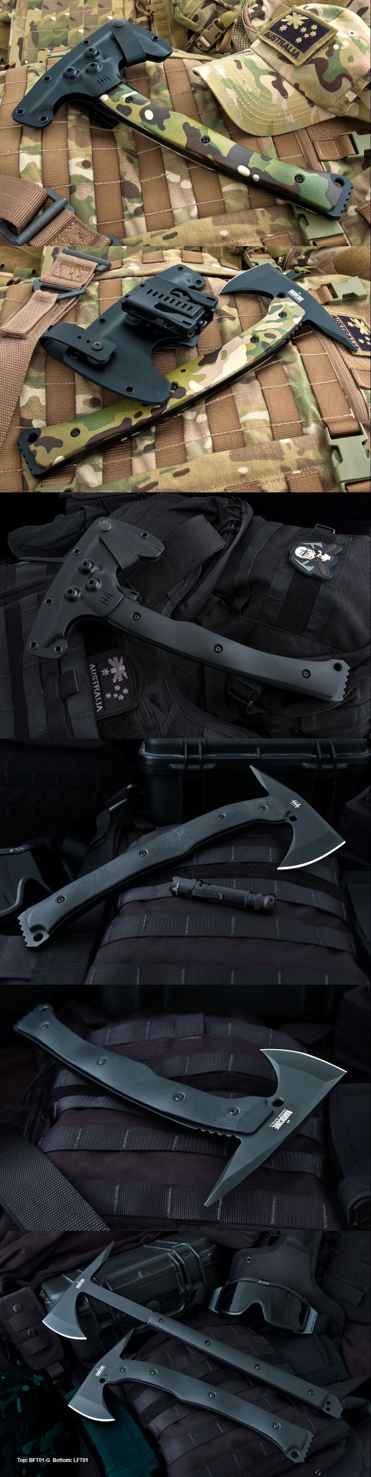 Military LFT01 tactical tomahawk. Looks a lot like my SOG Tactical Tomahawk. Very nice.