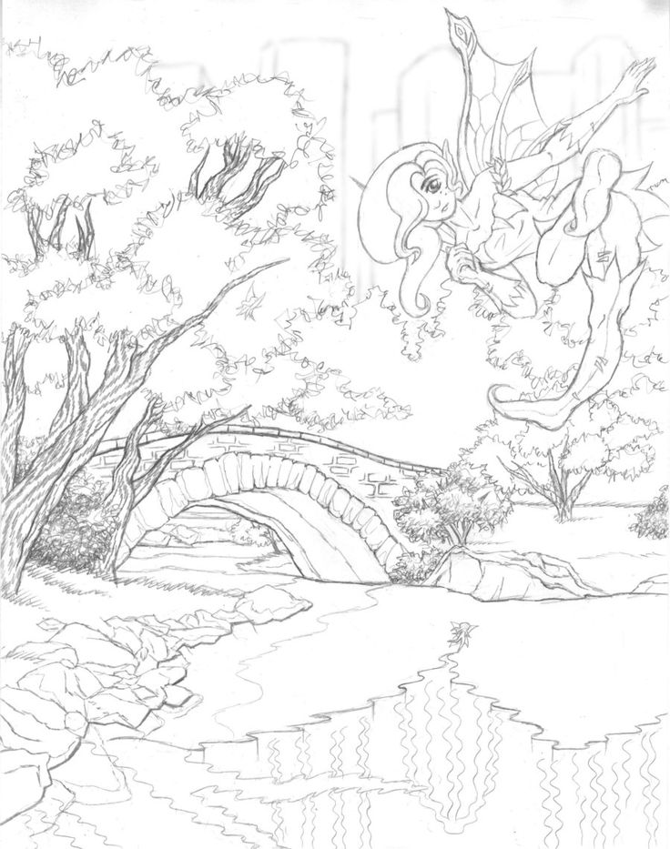 free scenery coloring pages - photo#24