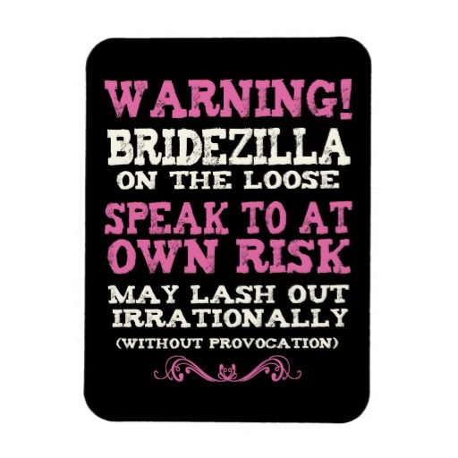 Bridezilla On The Loose Magnets
