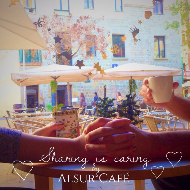 Sharing is caring. My marketing project for Alsur Cafe, Barcelona, #alsurcafe