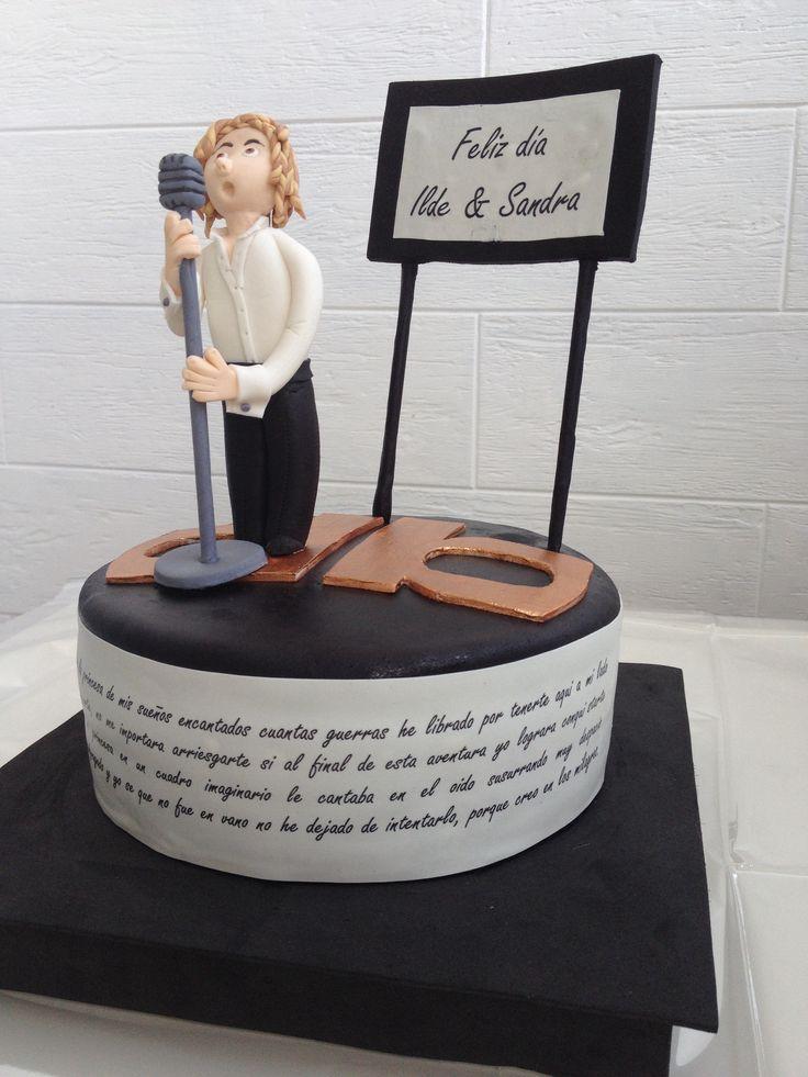 Tarta bisbal!! Cantando y letra de princesa mia!#anadulcenana #bisbal #tartas #sugarcraft