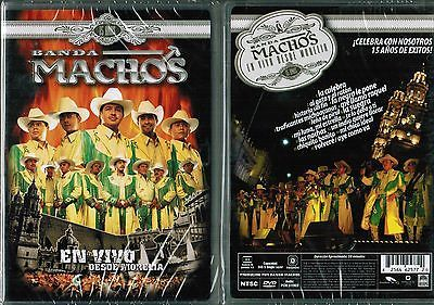Banda Machos En Vivo Desde Morelia spanish New DVD 15 Años