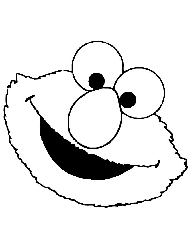 Sesame Street Elmo Face Coloring Page