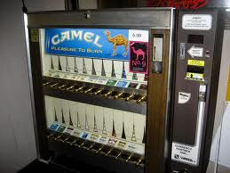 Cigarette Vending Machine - these used to be in lobbies and restaurants everywhere