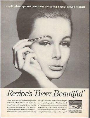 1960-039-s-Vintage-ad-for-Revlon-039-s-Brow-Beautiful-sexy-model-retro-photo-091217