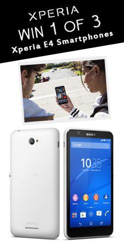 Win 1 of 3 Xperia E4 #Smartphones! #competition #sony