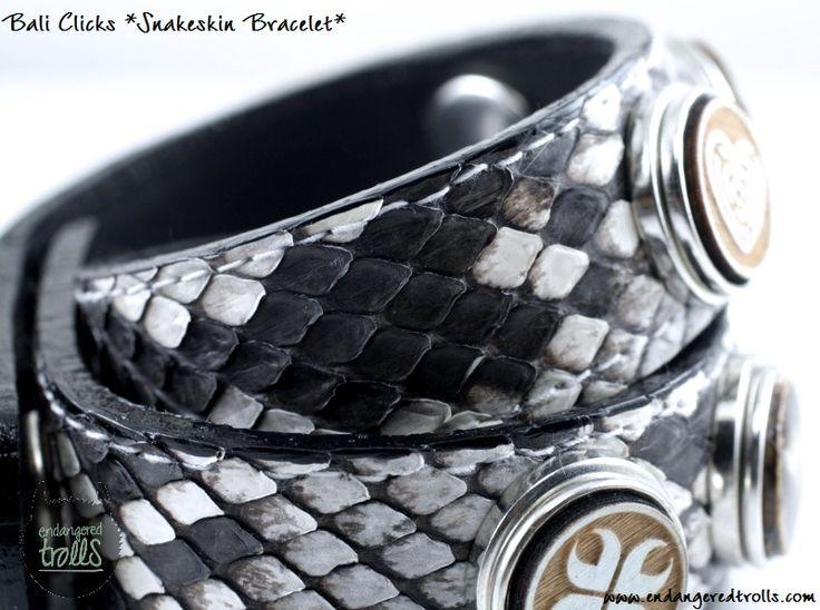 Bali Clicks Snakeskin Bracelet