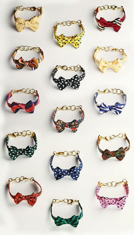 bowtie bracelets designed by Sarah Vickers for Kiel James Patrick. LOVE.