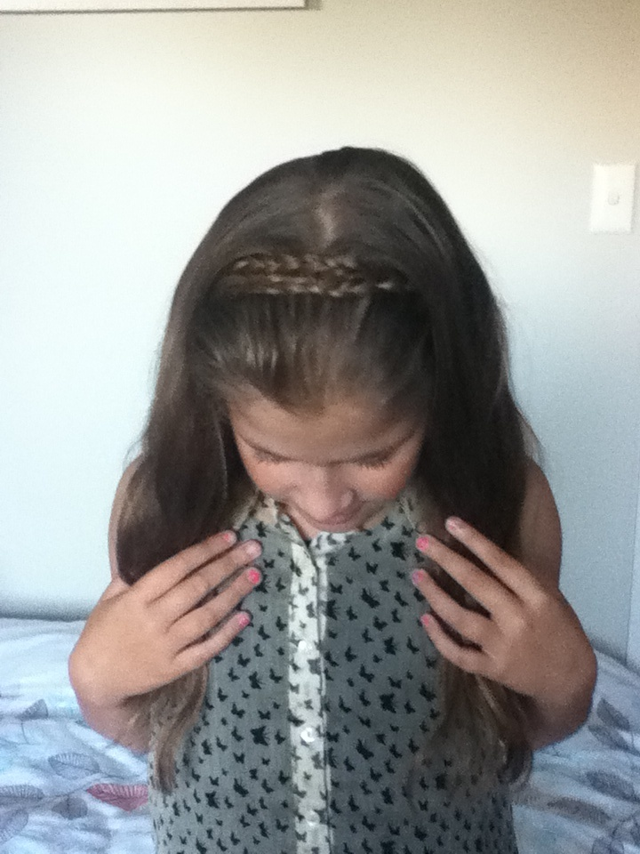 My hair band I mean literally its a HAIR band