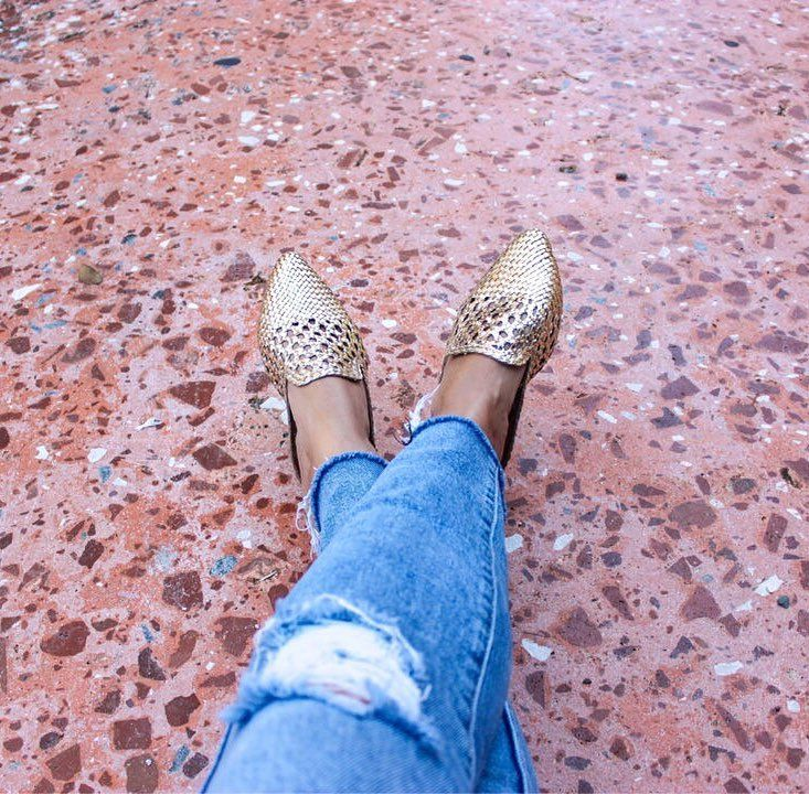 Gold sam edelman mules   Mules outfit