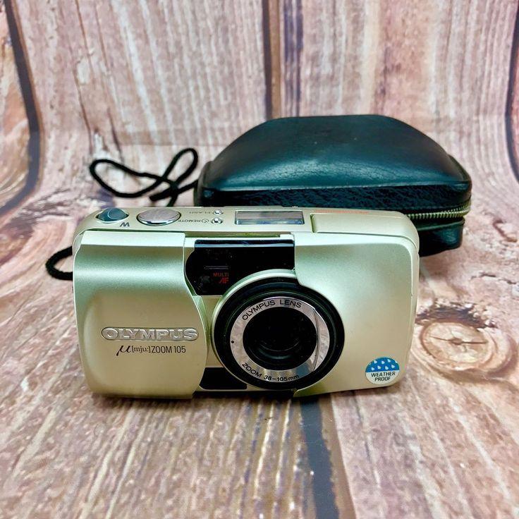 OLYMPUS mju Zoom 105 Compact Multi AF All Weather 35mm Pocket Camera & case 90's