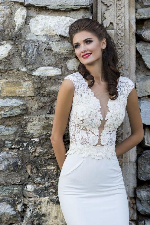 Exkluzívne svadobné šaty na predaj - vsunutý živôtik