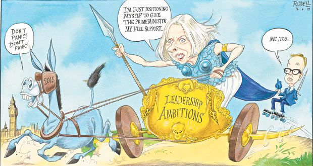 16 June 2013 - Boudica rides out by Riddell sets out Teresa May and Michael Gove's leadership ambitions ahead of 2015.