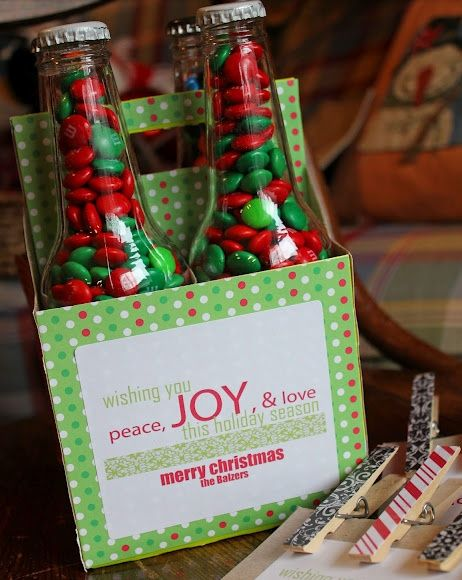DIY Gift Basket Ideas - Candy Caddies - Click pic for 25 DIY Christmas Gift Ideas