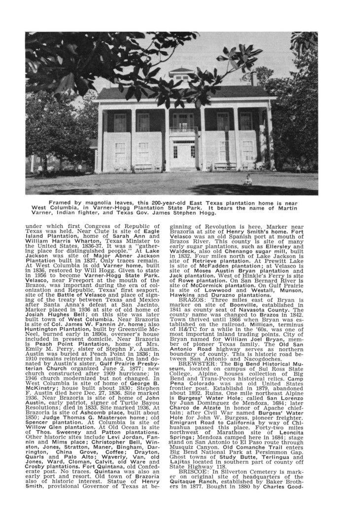 VarnerHogg Texas Almanac Article 19641965 (With images