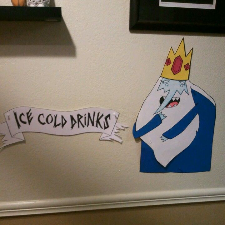 Adventure time party decor #iceking