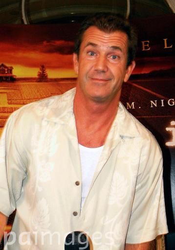 Mel Gibson makes faces at a press junket for his latest movie 'Signs'