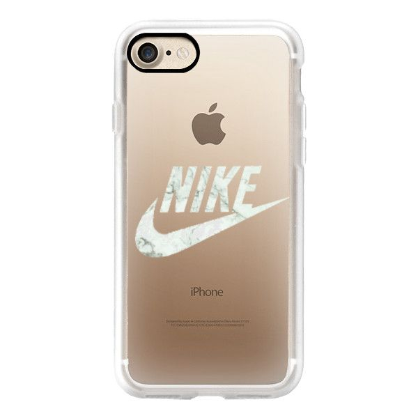 NIKE - WHITE MARBLE - iPhone 7 Case, iPhone 7 Plus Case, iPhone 7... ($40) ❤ liked on Polyvore featuring accessories, tech accessories, iphone case, apple iphone case, iphone hard case, iphone cover case, white iphone case and iphone cases