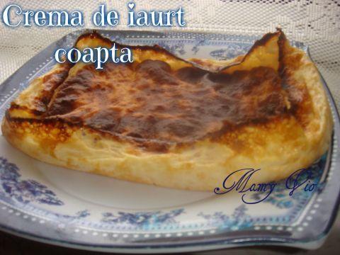 Crema de iaurt coapta | Dieta Dukan