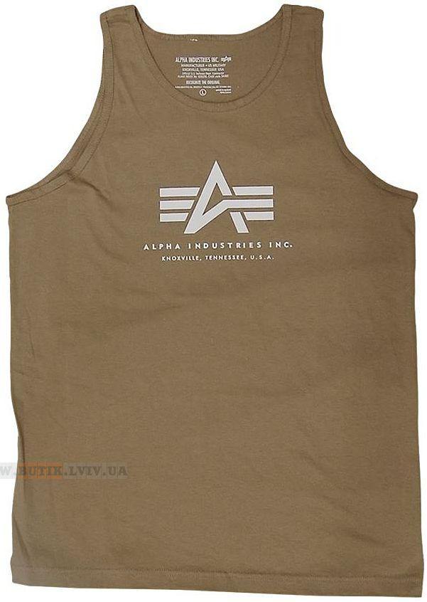 Футболка Alpha Tank Top Alpha Industries (Dark Khaki)  Розміри: під замовлення  Ціна: 18 $