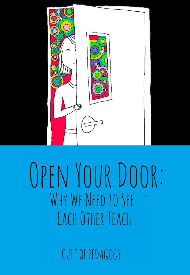 If you don't understand how truly amazing peer observation can be, opening your doors to other teachers can be a fantastic source of professional development.