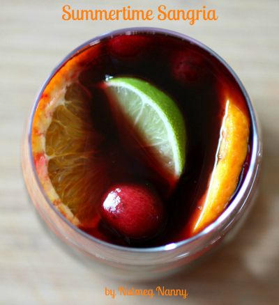 Summertime-SangriaJuice Cups, Drinks Cocktails, Summertime Sangria 5, Beverages, Sweets Teas, Cocktails Recipe, Orange Juice, Red Wines, Summertime Recipe