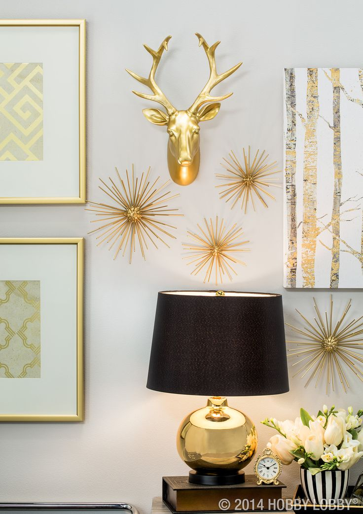 Black And Gold Has Never Looked Better Modern Glam Home Decor Pinterest Gold Apartments
