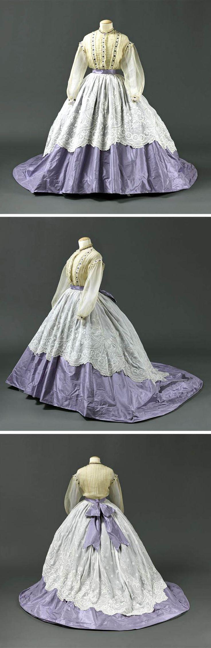 Taffeta skirt, embroidered muslin bodice, ca. 1864. Owned by Princess Mathile. Photo: RMN /Stéphane Maréchalle© Réunion des Musées Nationaux
