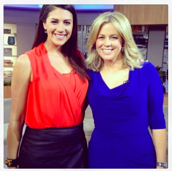 The very stunning @sam_armytage on Sunrise wearing our cobalt pegged cowl, love!!! Such a gorgeous ambassador, thank you Sam #leinabroughton http://leinabroughton.com.au/our-shop/all-styles/sleeved-pegged-cowl-cobalt