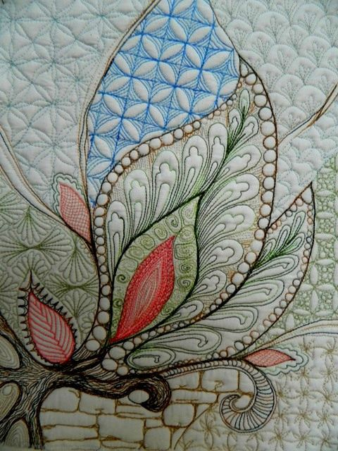 Wow!!! This really proves that zentangle can inspire some pretty amazing quilting!