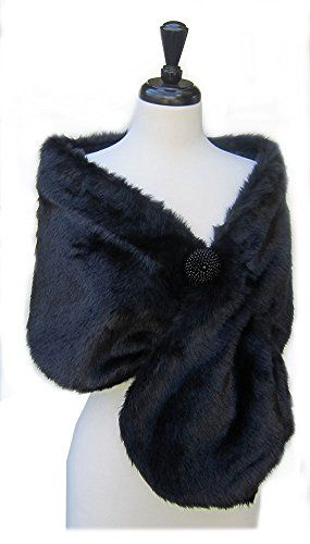 a67a056a4 New SACASUSA(TM) Long Beautiful Faux Fur Shawl Stole Cape Winter in 2 colors.  [$19.98] from top store alltrendytop | Women Scarves | Womens scarves, Fur,  ...