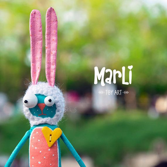 Sunny hare by MarLitoys on Etsy