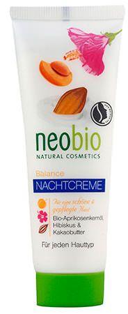 NEOBIO ÉJSZAKAI KRÉM VEGYES BÖRRE 50 ML - Könnyű arcápoló, BIO barackmagolajjal és hibiszkusszal, a kiegyensúlyozott bőrért. A BIO sheavajból, BIO szójaolajból és BIO kakaóvajból álló intenzív hatóanyag-komplexum az egész éjszaka folyamán tartós ápolást és kényeztetést biztosít az arcbőr számára. Tartósan harmonizálja és szabályozza a nedvesség- és zsírháztartást. NaTrue által minősített natúrkozmetikum.