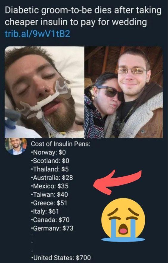 Diabetischer Bräutigam stirbt, nachdem er billigeres Insulin bezahlt hat, um für die Hochzeit zu bezahlen – health-care