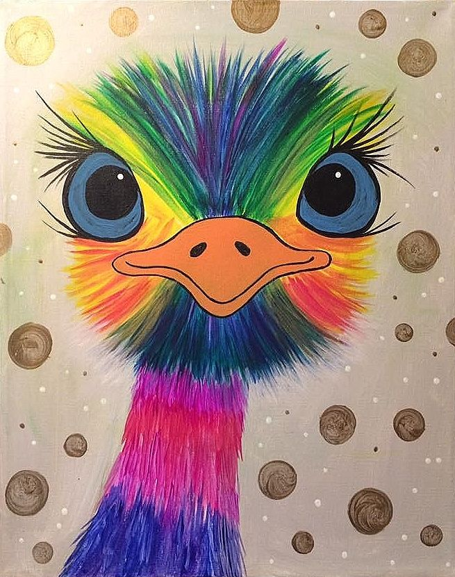 Rainbow ostrich is tired of yo ...