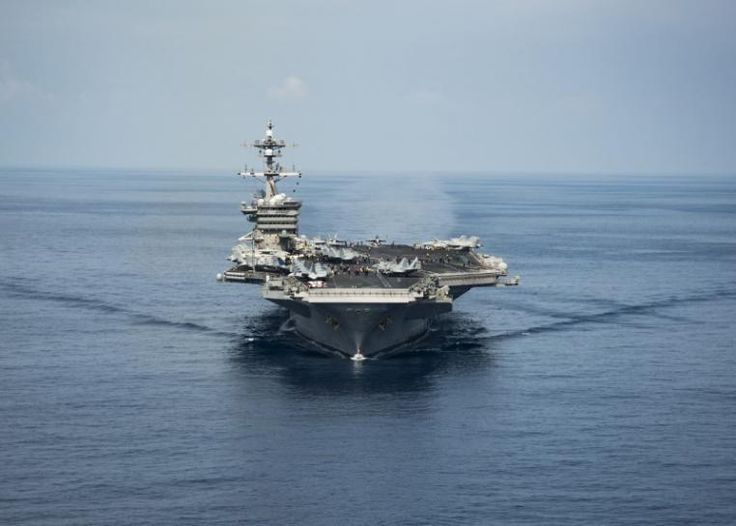 U.S. carrier group heads for Korean waters, China calls for restraint