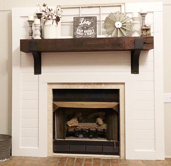 Fireplace Mantel Supports Sold Individually Mantel Decor Rustic