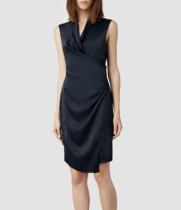 Womens Arina Dress (Indigo) | ALLSAINTS.com