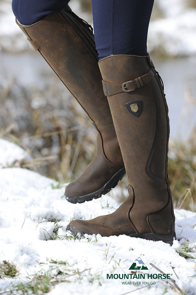 DREAM BOOTS!!!  Snowy River long leather winter riding boot with faux fur lining. Simply divine. And did we mention waterproof? http://mountainhorse.se