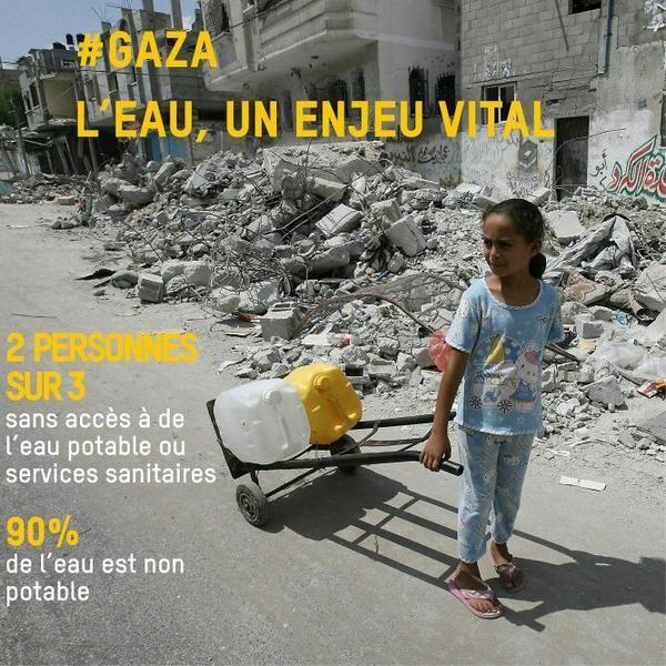 Dans la bande de Gaza, deux personnes sur trois n'ont pas accès à de l'eau potable