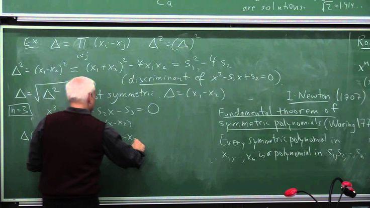 MathHistory21: Galois theory I