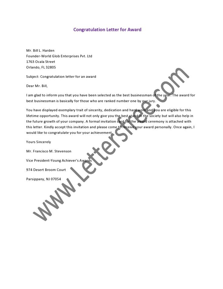 Sample Letter Of Congratulations For Job Promotion