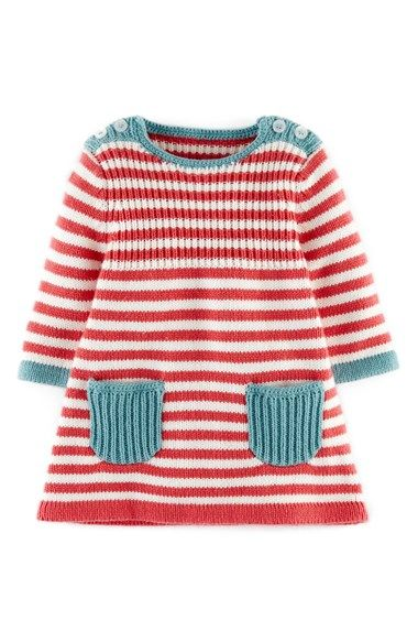 Mini Boden Stripy Knit Dress (Baby Girls) available at #Nordstrom